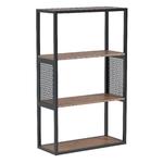 Etagères en bois vernis et structure métallique, style industriel