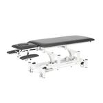Table électrique 2 panneaux avec accoudoirs pour physiothérapeute, THAI Gris graphite