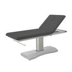 Table de massage électrique gris foncé, 1 moteur, avec pied central, HERN