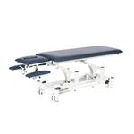 Table électrique 2 panneaux avec accoudoirs pour physiothérapeute, THAI Bleu