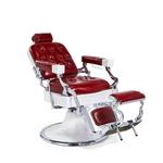 Fauteuil barbier haut de gamme vintage rouge, JONES