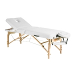 Table de massage pliante grand confort, en bois de hêtre, TRIGG