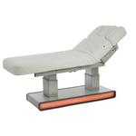 Table de massage, 4 moteurs, double colonne avec matelas chauffant et éclairage à Leds, MUSE