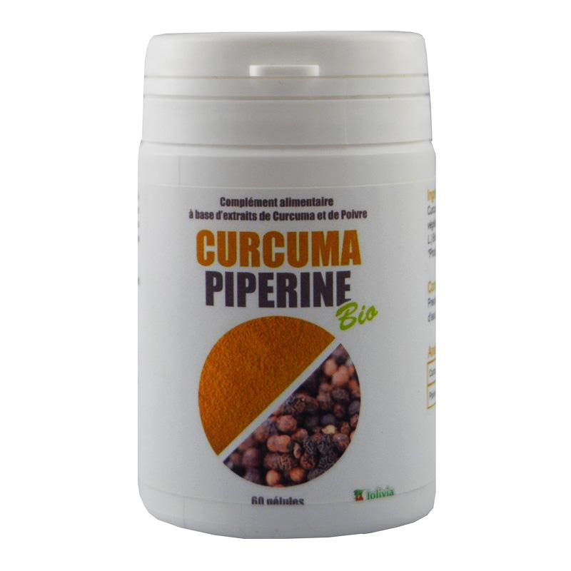 Curcuma et Piperine Bio AB - pot de 60 gélules