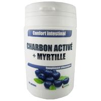 Charbon activé + myrtille gélules végétales DLUO courte