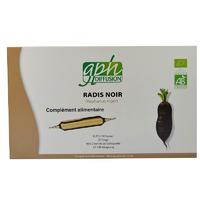 Extrait fluide de Radis Noir Bio 20 ampoules 15 ml