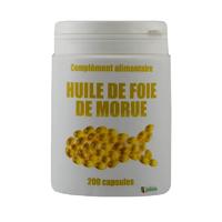 Foie de morue 200 capsules 500 mg