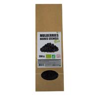 Mulberries noires séchées Bio AB 200 g