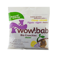 Crunchies bio, figues, citron et baobab 40g