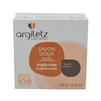 Savon doux Argile rose parfum rose