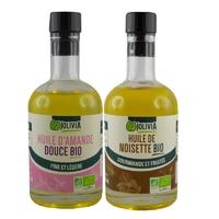 Lot huile de noisette et huile d'amande douce Bio AB (2x250 ml)