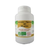 Curcuma et piperine Bio 180 gélules végétales