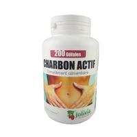 Charbon actif 200 gélules 210 mg