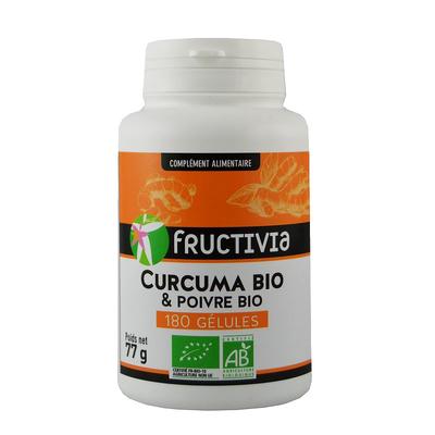 Curcuma piperine bio 180 gel Fructivia