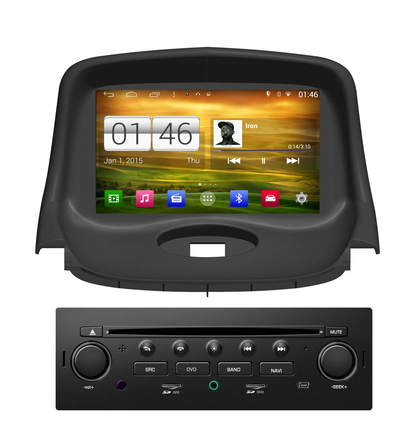 achetez votre autoradio android gps peugeot 206 cran tactile dvd wifi hightech. Black Bedroom Furniture Sets. Home Design Ideas