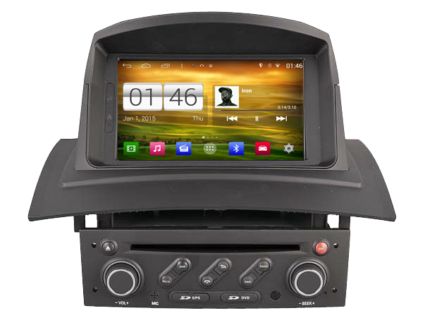 autoradio android dvd blueototh gps renault megane 2 kangoo hightech. Black Bedroom Furniture Sets. Home Design Ideas