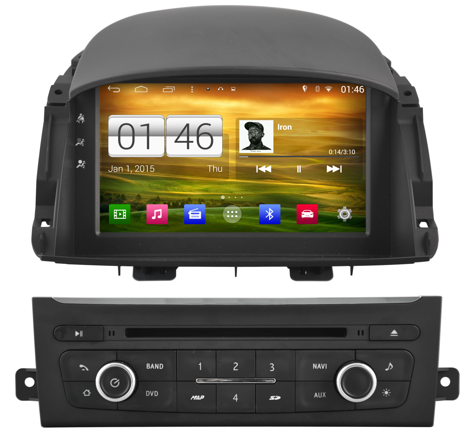 achetez votre autoradio android gps renault koleos cran tactile dvd usb hightech. Black Bedroom Furniture Sets. Home Design Ideas