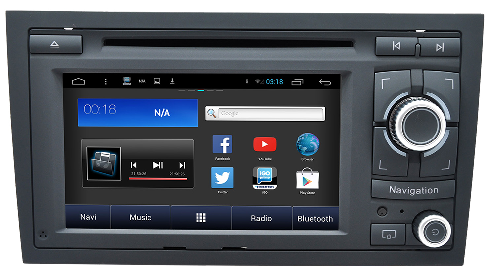 autoradio android audi a4 cran tactile gps dvd android. Black Bedroom Furniture Sets. Home Design Ideas