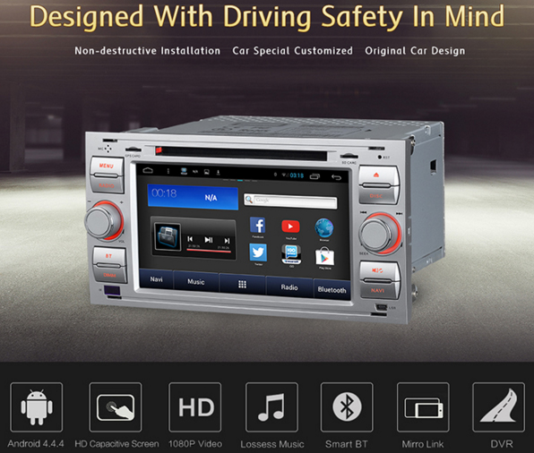 achetez votre autoradio android gps cran tactile ford kuga c max transit mondeo hightech privee. Black Bedroom Furniture Sets. Home Design Ideas