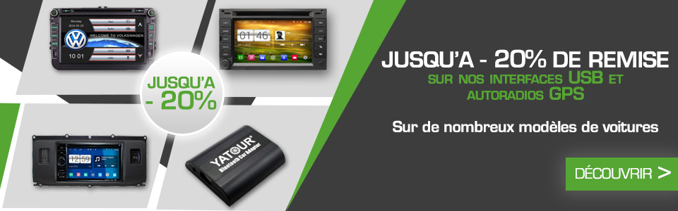 Promotions GPS et interfaces usb
