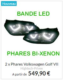 Phare VW Golf 7