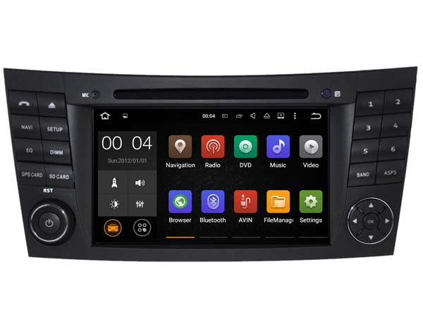 autoradio android 5 1 dvd gps mercedes classe e classe g cls. Black Bedroom Furniture Sets. Home Design Ideas