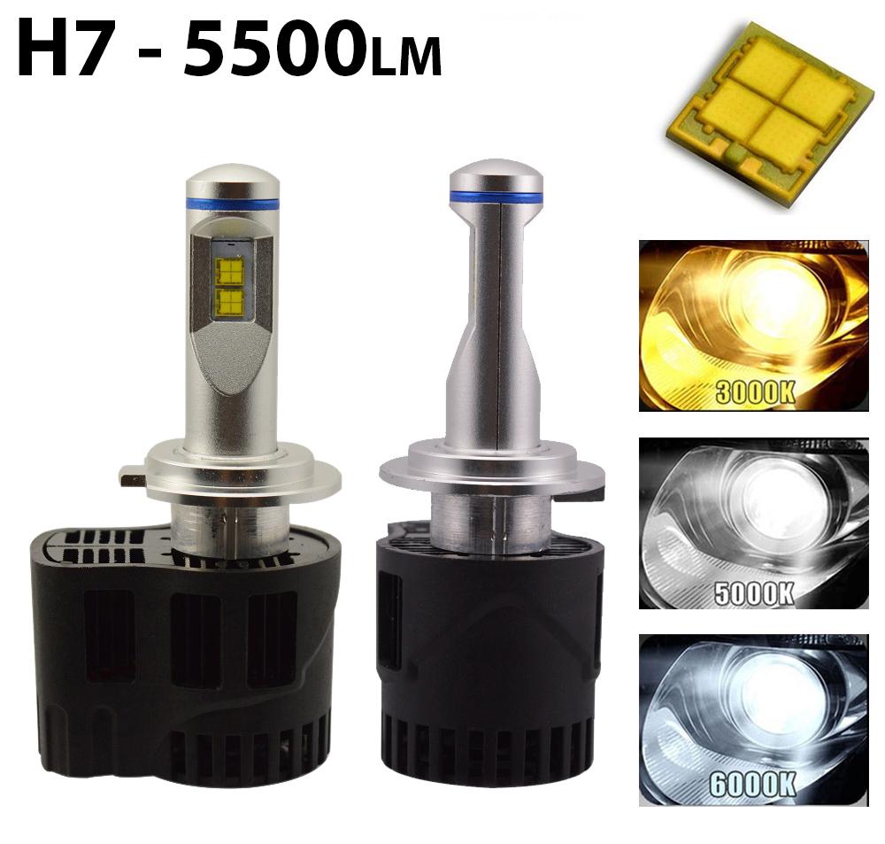 ampoules led h7 avec 4 leds philips luxeon mz mieux x non h7. Black Bedroom Furniture Sets. Home Design Ideas