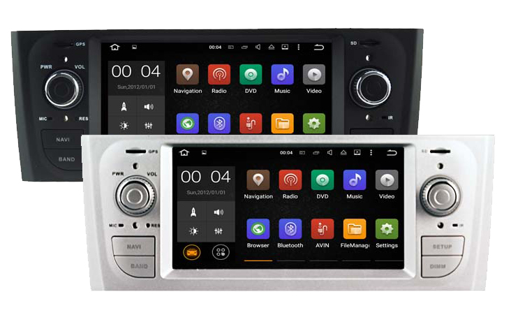 autoradio gps android 7 1 bluetooth fiat grande punto et linea hightech. Black Bedroom Furniture Sets. Home Design Ideas