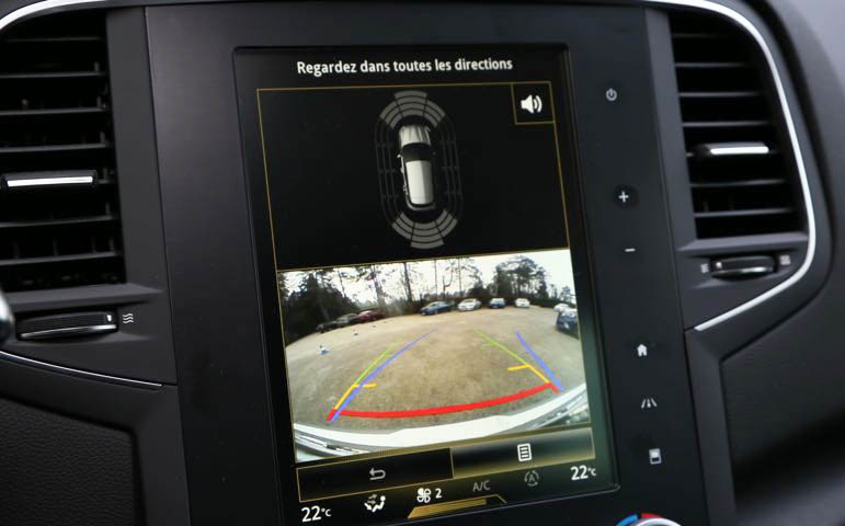 Interface multimédia et caméra de recul pour Renault Captur Talisman Kadjar Megane et Espace avec R-LINK 2