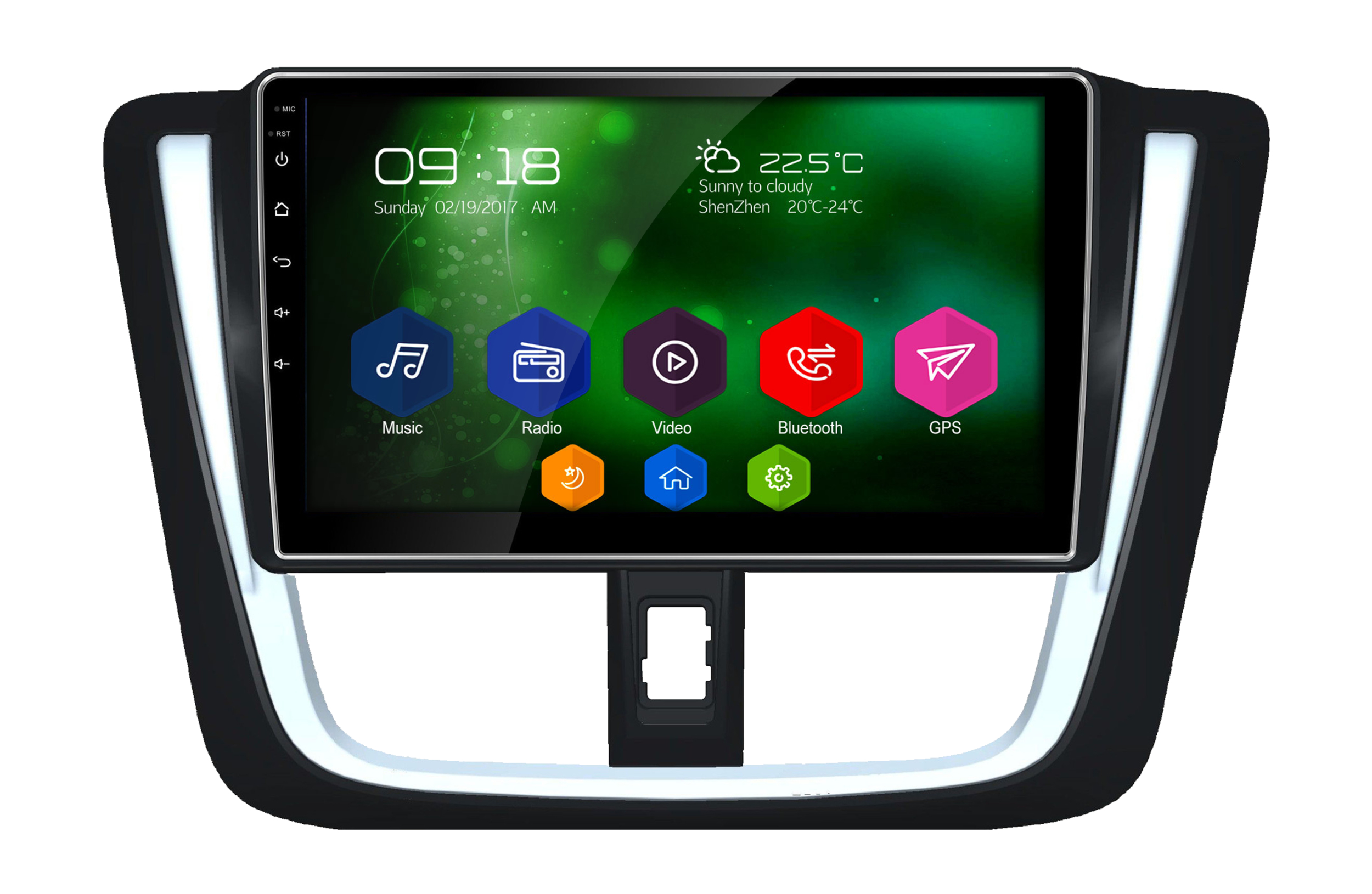 cran tactile 10 android 6 0 gps wifi toyota yaris depuis 2016. Black Bedroom Furniture Sets. Home Design Ideas
