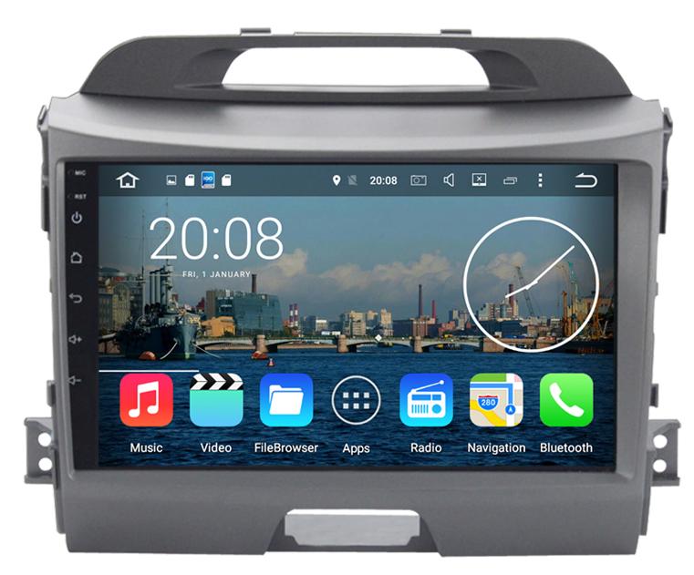 autoradio android 6 0 gps wifi kia sportage grand cran tactile 9. Black Bedroom Furniture Sets. Home Design Ideas