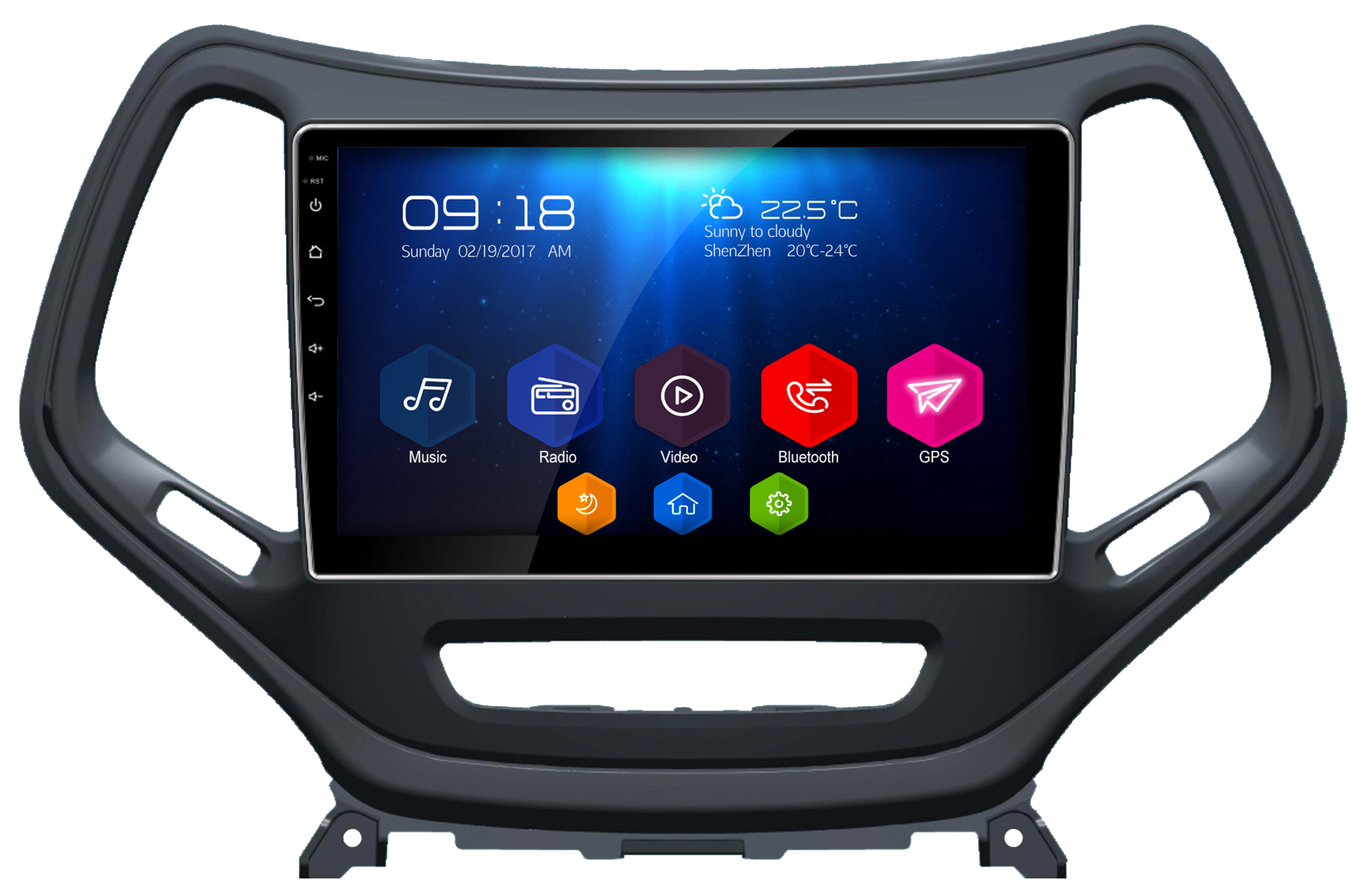 autoradio android 6 0 gps jeep cherokee grand cran tactile 10 1. Black Bedroom Furniture Sets. Home Design Ideas