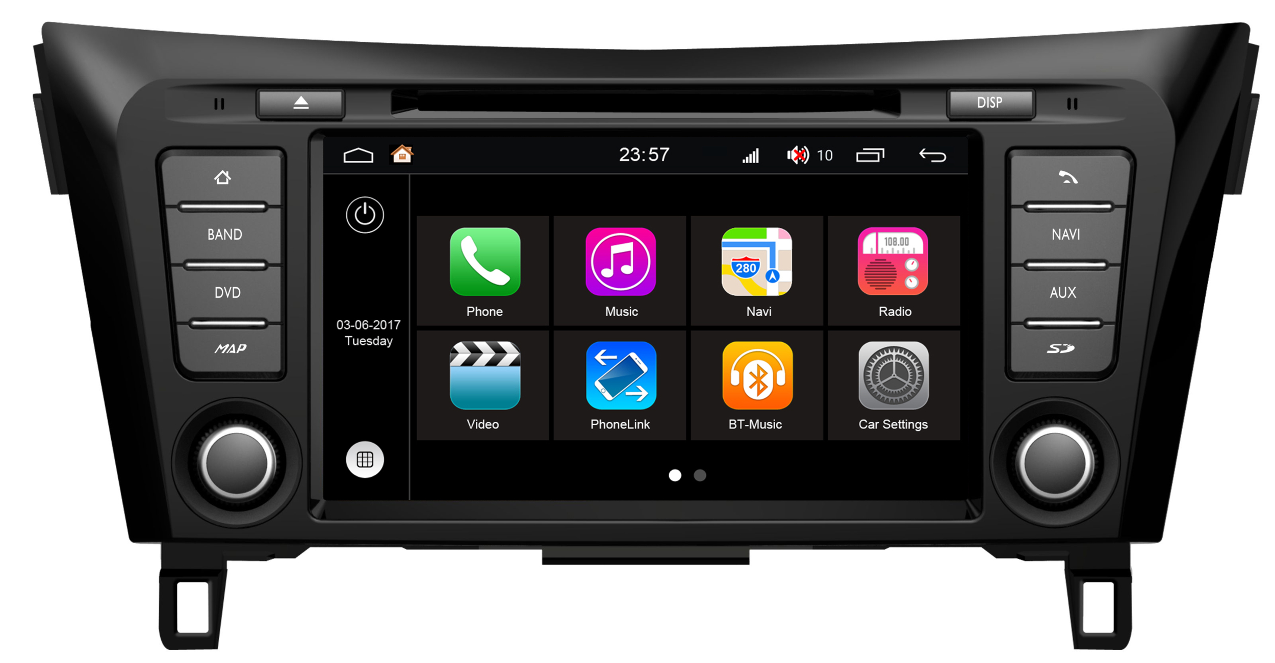 autoradio android wifi mirrorlink gps nissan qashqai x trail hightech. Black Bedroom Furniture Sets. Home Design Ideas