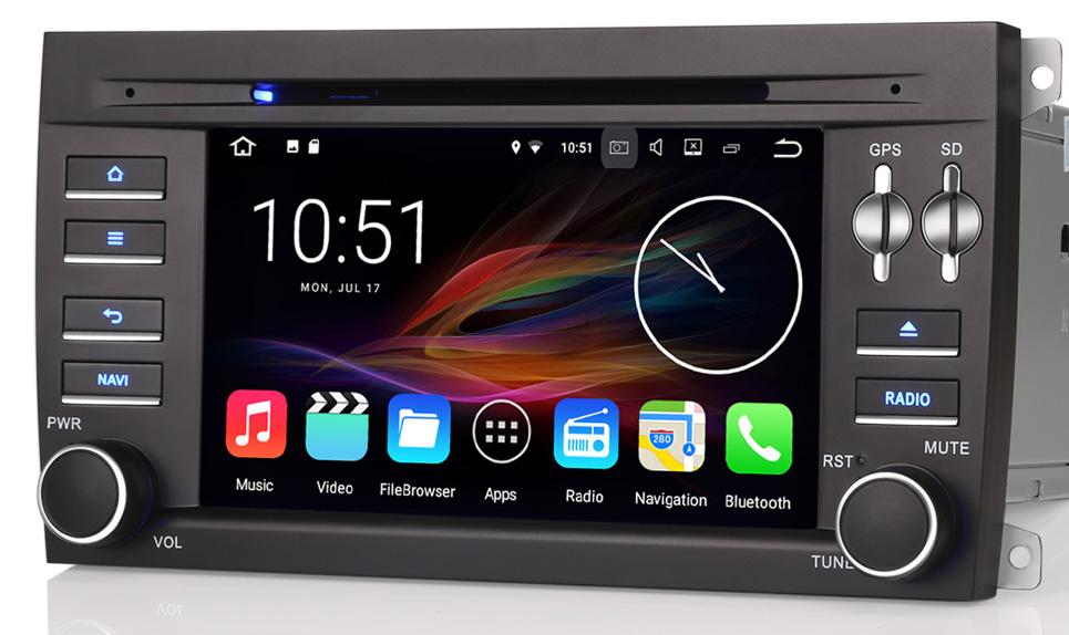 autoradio android 7 1 gps porsche cayenne dvd bluetooth wifi. Black Bedroom Furniture Sets. Home Design Ideas