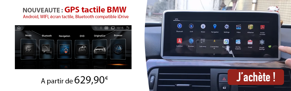 écran tactile BMW Android