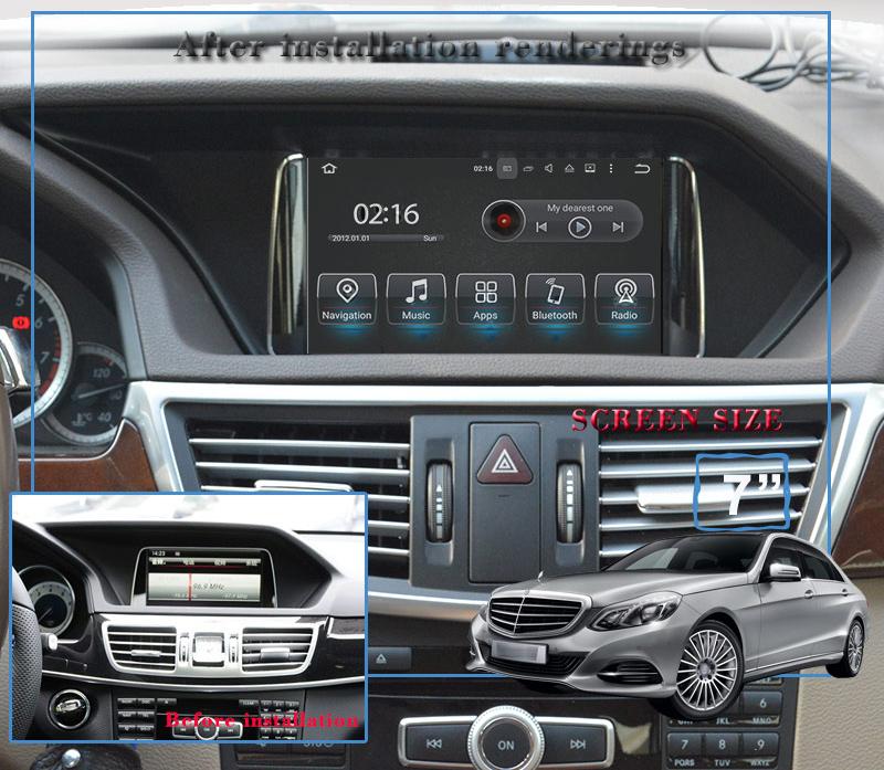 ecran tactile 7 navigation gps wifi android mercedes classe e hightech privee. Black Bedroom Furniture Sets. Home Design Ideas