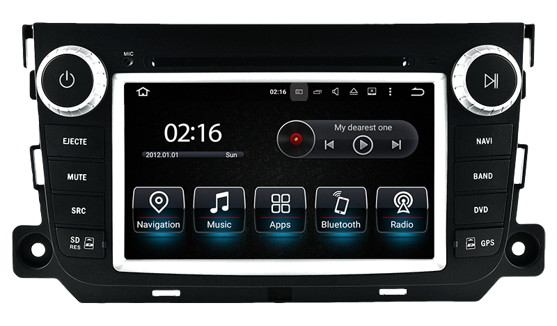 autoradio android gps cran tactile wifi smart fortwo 2010 2015 hightech. Black Bedroom Furniture Sets. Home Design Ideas