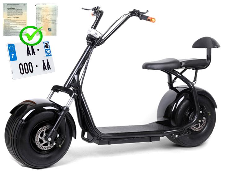 citycoco scooter lectrique grosse roue homologu route. Black Bedroom Furniture Sets. Home Design Ideas