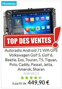 GPS Android 7.1 écran tactile compatible Volkswagen