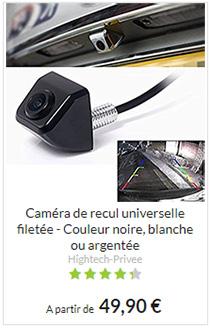 Caméra de recul universelle, compatible tous véhicules