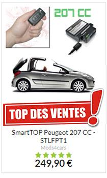Décapotez en roulant votre Peugeot 207CC