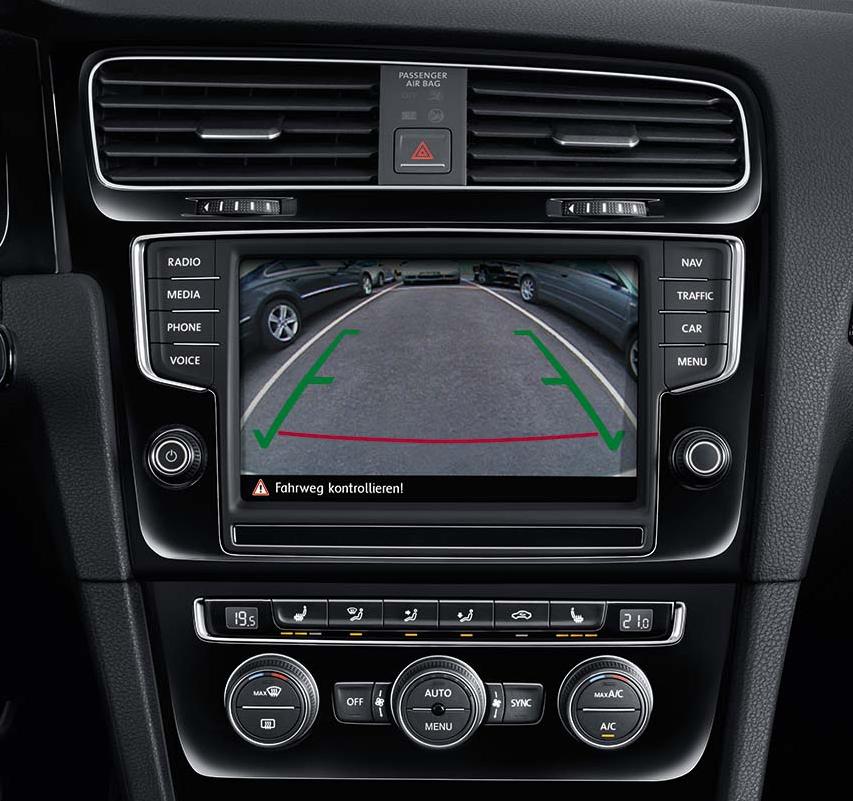 Interface vidéo avec entrée caméra de recul Volkwagen Golf 7, Arteon, Crafter, Passat, Polo, T-Roc, Tiguan et Touran