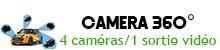 Caméra 360 degrés 2D/3D