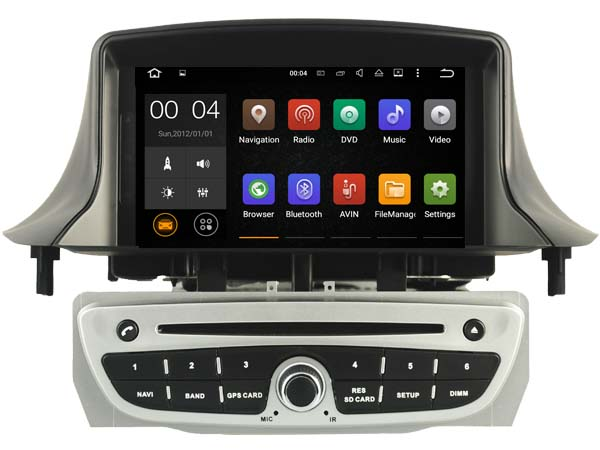 autoradio android 7 1 dvd cran tactile gps renault megane 3 hightech. Black Bedroom Furniture Sets. Home Design Ideas