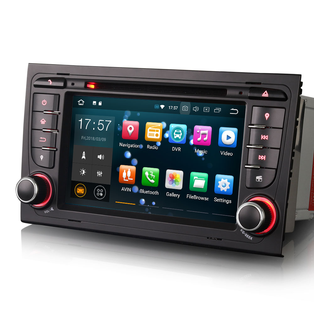 autoradio gps waze android 8 0 tactile audi a4 payez en. Black Bedroom Furniture Sets. Home Design Ideas