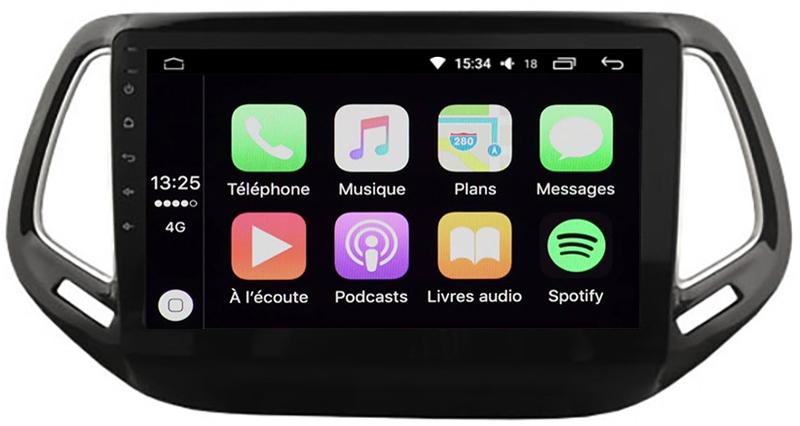 ecran tactile carplay android auto gps waze wifi jeep commander. Black Bedroom Furniture Sets. Home Design Ideas