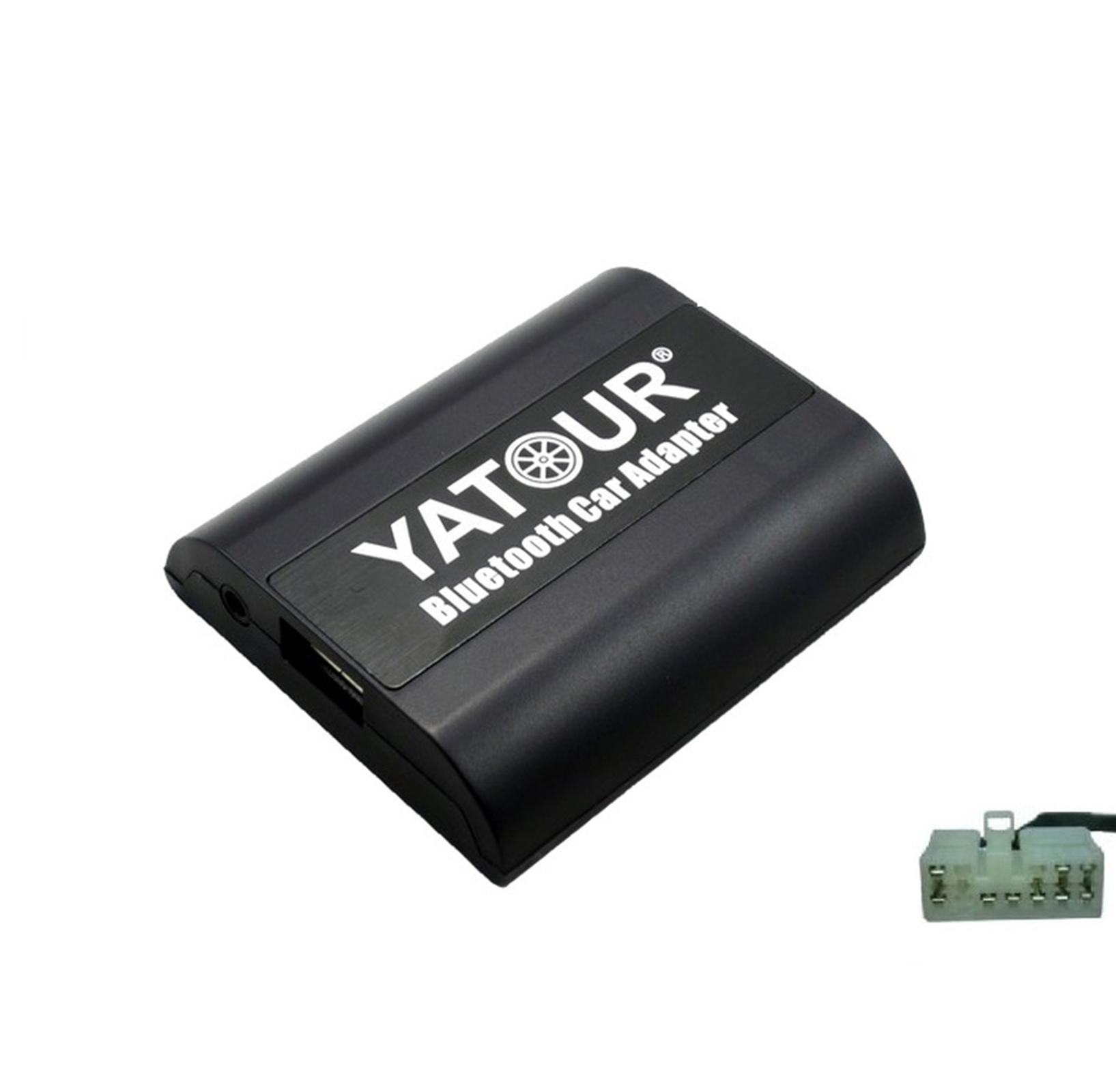 Kit Mains libres Bluetooth et streaming audio pour Toyota Avensis, Corolla Verso, Highlander, Land Cruiser, MR2, RAV4, Yaris et Matrix (5+7)