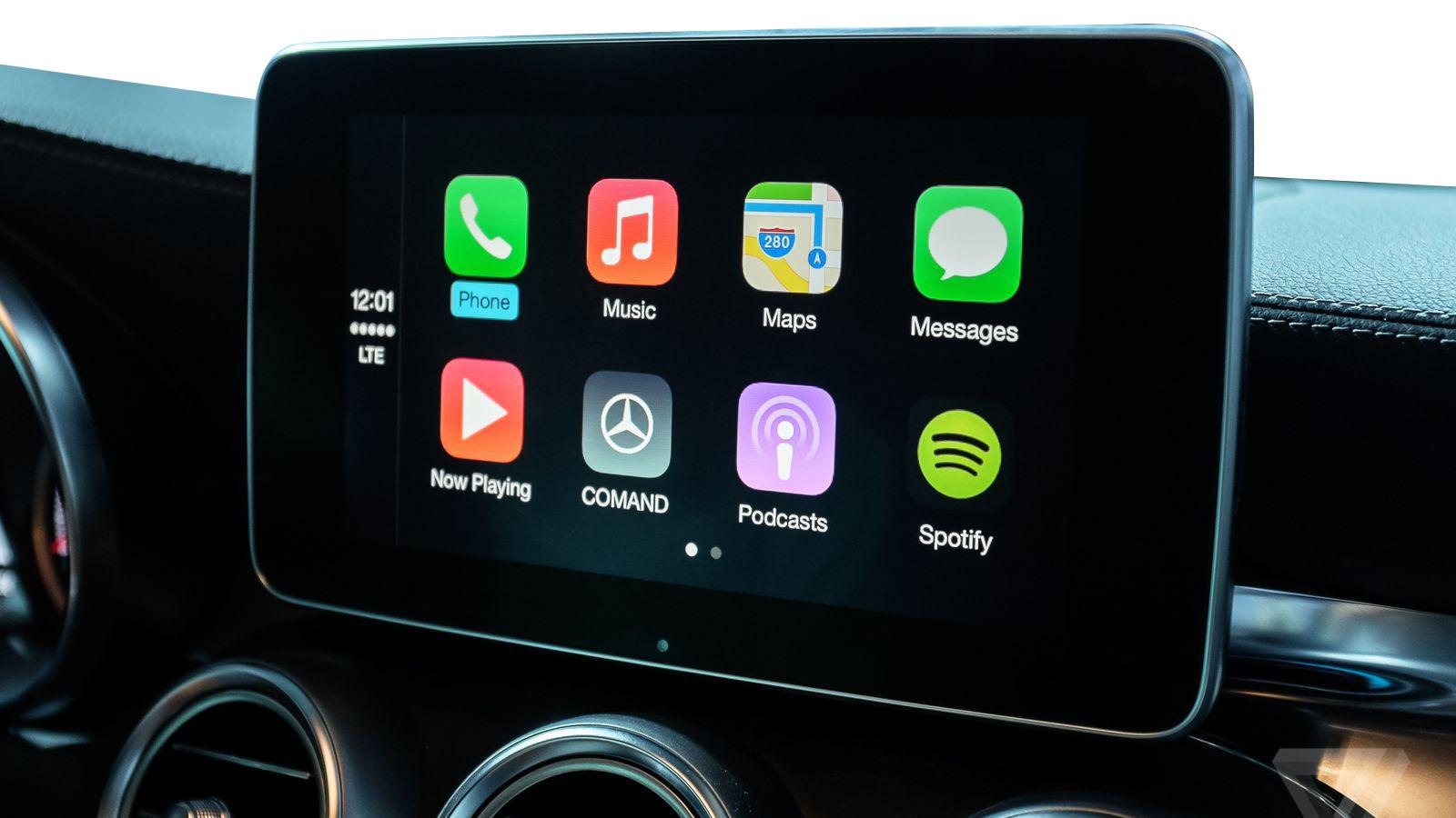 Apple CarPlay pour Mercedes Classe A, Classe B, Classe C, Classe E, CLA, CLS, GLA, GLE et GLS avec NTG5.1 de 2015 à 2017