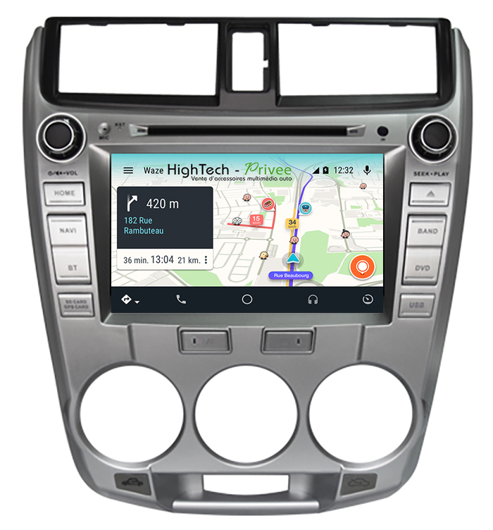 Autoradio écran tactile Android 10 GPS Wifi Honda Jazz de 2008 à 2012