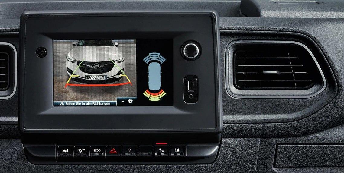 Interface multimédia et caméra de recul pour autoradio NAVI 80 sur Opel Vivaro et Opel Movano